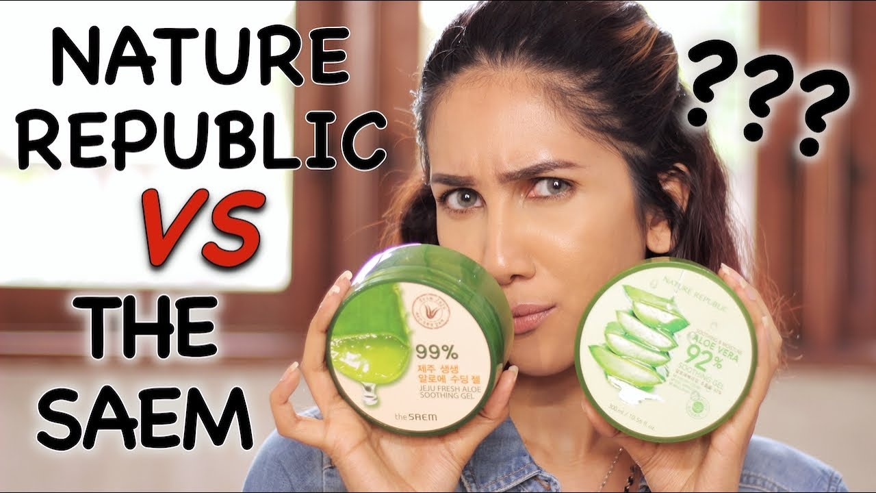Bagusan Mana Nature Republic Vs The Saem Aloe Vera Gel Suhaysalim
