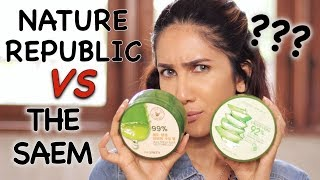 BAGUSAN MANA: Nature Republic vs The Saem Aloe Vera Gel ?? | suhaysalim
