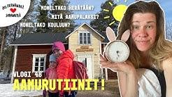 AAMURUTIINIT LAPISSA - PALUU KOULUARKEEN! #vaihtovuosisodankylässä vlogi 48