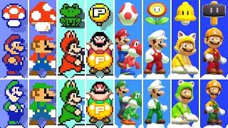Super Mario Maker 2 - All Power-Ups (2 Player)