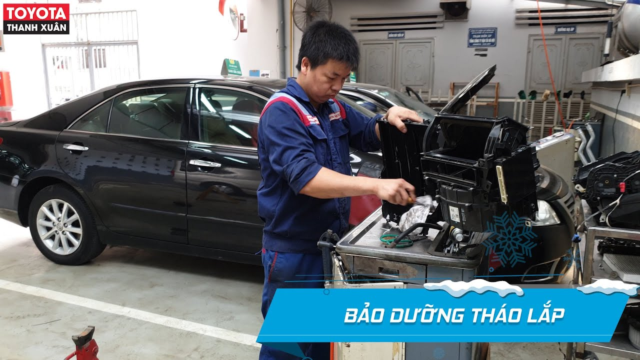 ✅03 dấu hiệu điều hòa ô tô cần bảo dưỡng | Vệ sinh giàn lạnh, bảo dưỡng tháo lắp điều hòa Toyota