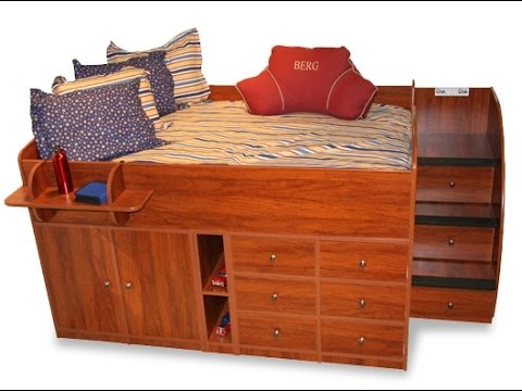 full size captains bed - youtube