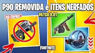 FORTNITE - DRUM GUN NERFADA, BALLER NERFADO e P90 NO COFRE! Patch 9.01