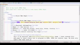 HTML Tutorial 6 - Working with Image Tag