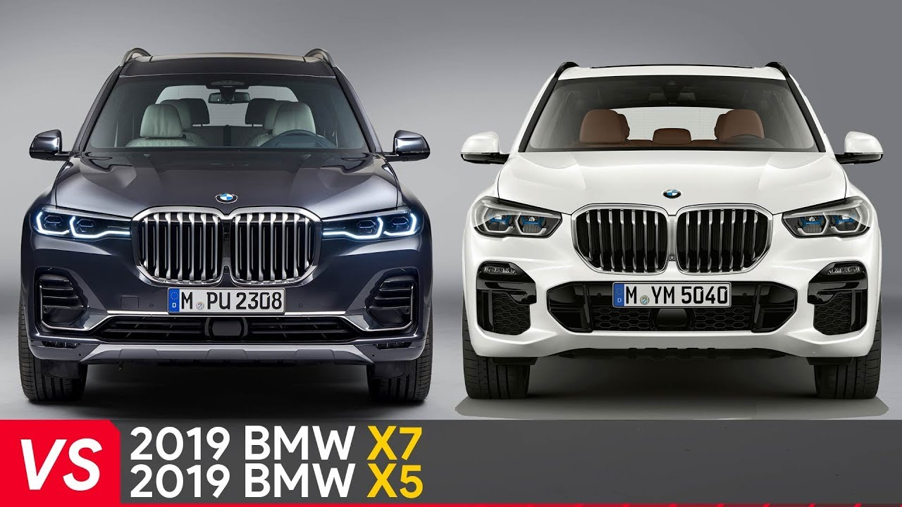 2019 bmw x7 vs x5 design dimensions comparison youtube. Black Bedroom Furniture Sets. Home Design Ideas