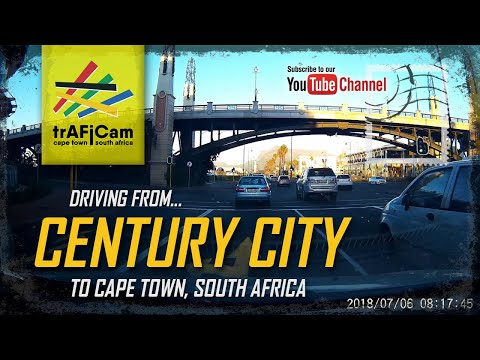 Driving from Century City, Cape Town to the CBD - 2018/07/06 08:14:45 -021A