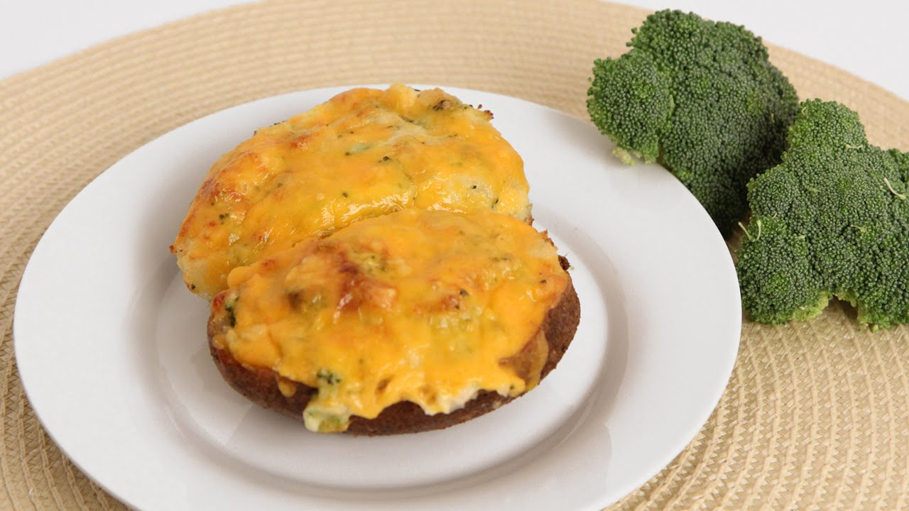 Cheddar Broccoli Twice Baked Potato Recipe - Laura Vitale - Laura in the Kitchen Episode 834