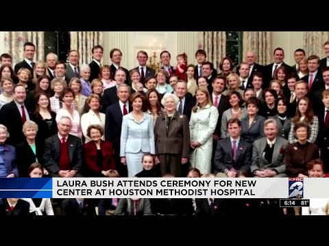 Laura Bush Attends Ceremony for New Healing Garden at