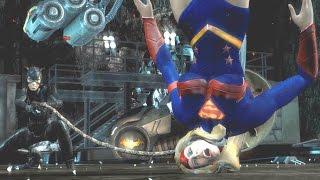 Injustice: Gods Among Us - All Super Moves on Supergirl (1080p 60FPS)