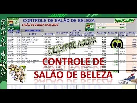 PLANILHA DE CONTROLE DE SALÃO DE BELEZA, AGENDA E FINANÇAS
