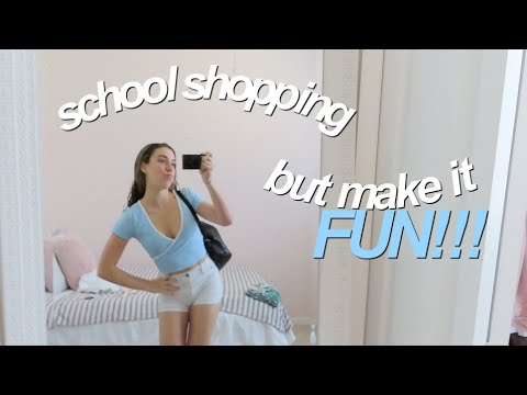 lets go school shopping! (and mini haul)
