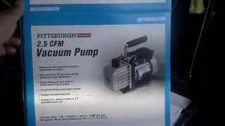Harbor Freight Pittsburgh 2.5 CFM Vacuum Pump A/C
