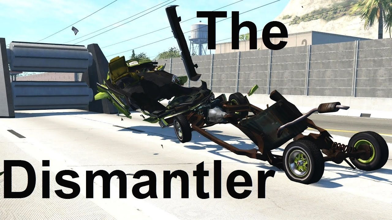 How To Remove The Body From The Frame In BeamNG! With Help From The Car Dismantler!