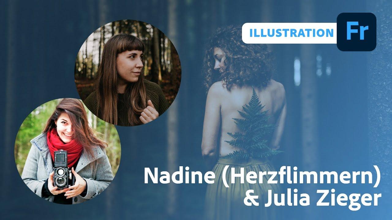 Frühlingsillustration mit Nadine Schachinger und Julia Zieger  Adobe Live