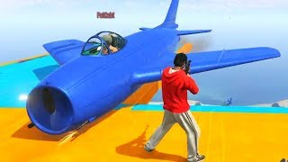 SNIPE THE PLANES! - GTA 5 Funny Moments #730