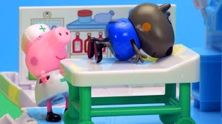 Peppa Pig Toys - Nurse Peppa Pig helps Danny Dog! - Stop Motion