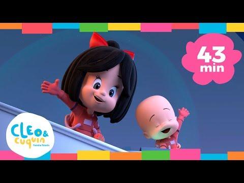 TAN ALTA COMO LA LUNA y más canciones. Cleo & Cuquín | Familia Telerín. Canciones para niños (43min)