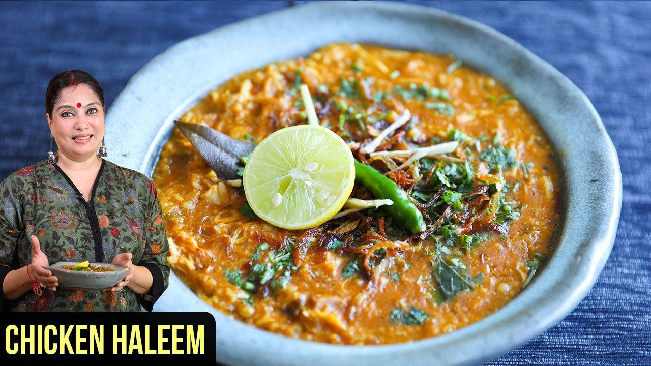 Chicken Haleem   How To Make Chicken Haleem   Hyderabadi Murg Haleem   Haleem Recipe by Smita Deo