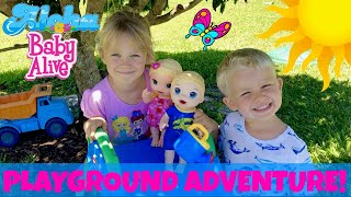 🏖Snackin' Luke & Lily Go On A Playground Adventure! 💦 Kids Have Fun With Water & Sand! 😄Fun Skit!