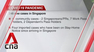 Singapore reports 248 new COVID-19 cases