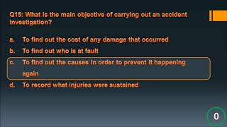 CSCS - Health and Safety Mock Test Questions Part 01 - Accident and Reporting