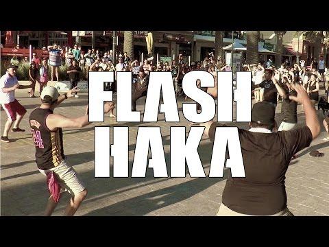 Flash Mob Haka in Glenelg Adelaide