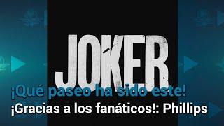 """""""Joker"""" agradece, con baile y carcajada, récord en taquilla"""