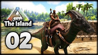 Hesperonis, Parasaur & Moschops Taming! | Let's Play ARK Survival Evolved: The Island | Episode 2