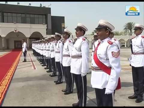 Srilankan president mahinda visit Bahrain king Hamed welcome  we love Bahrain too  thanks