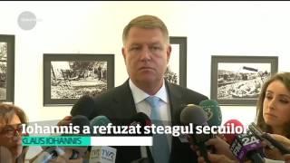 цЋn faеёa oficialilor din Covasna еџi Harghita Klaus  ohannis a refuzat steagul secuilor