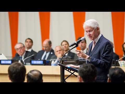 President Bill Clinton on the role of partnerships - United Nations ECOSOC event