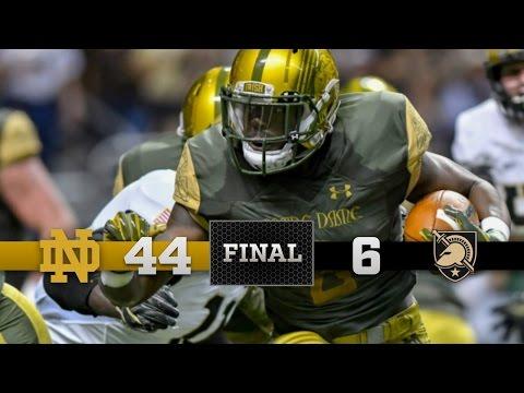 Notre Dame Football Highlights vs Army