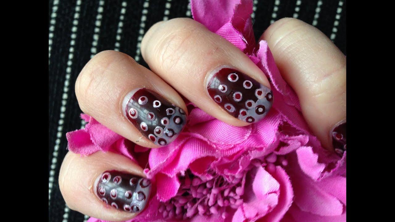 Punkte Nageldesign für kurze Nägel zum selber machen Polka Dots Nail ...