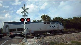 CSX Locomotive Follows Amtrak Train The Silver Star