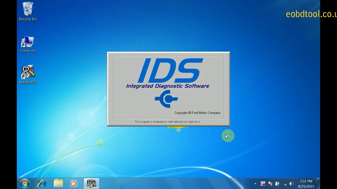 Installation of Mazda IDS V96 VCM2 Diagnostic Tool