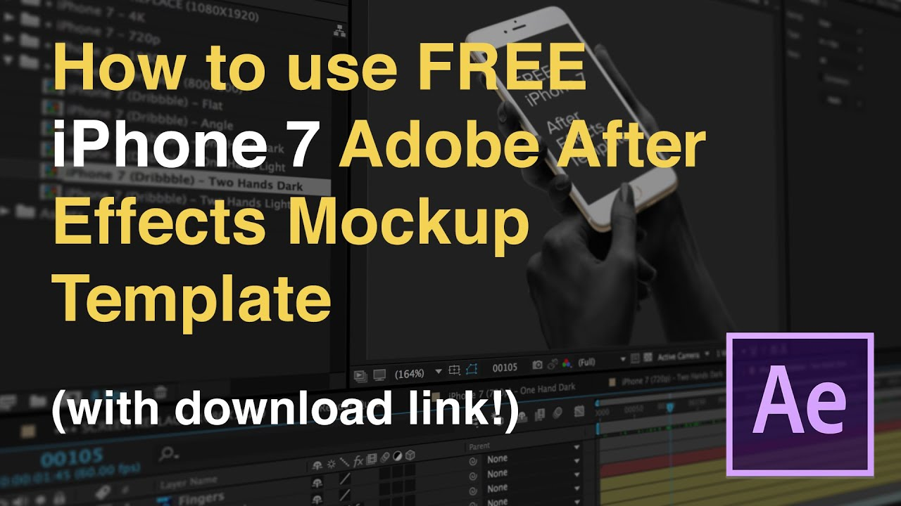How to use iphone 7 adobe after effects mockup template for How to use adobe after effects templates