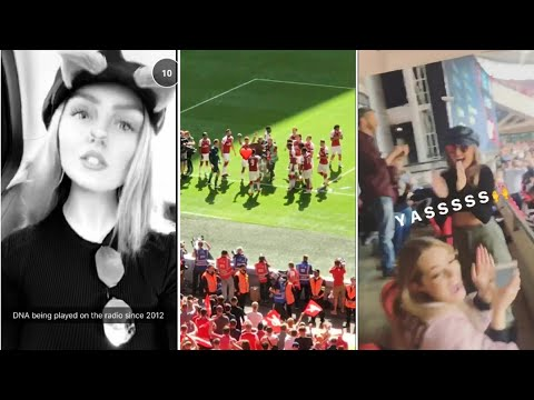 Perrie Edwards during the Arsenal match at Wembley Stadium | 06 August 2017 |