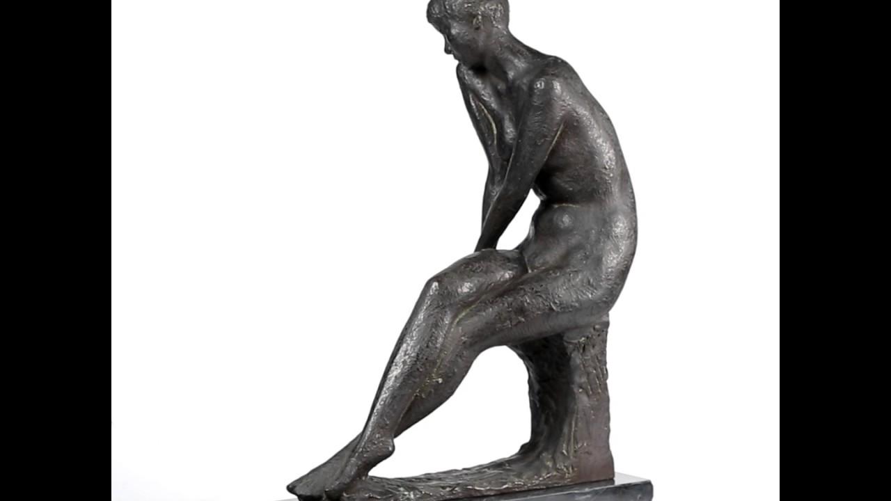 雕塑銅少女宮本光庸總重17.6kg -...