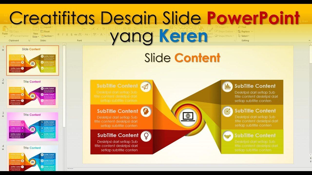 Cara Membuat Slide Content Powerpoint Yang Kreatif Youtube