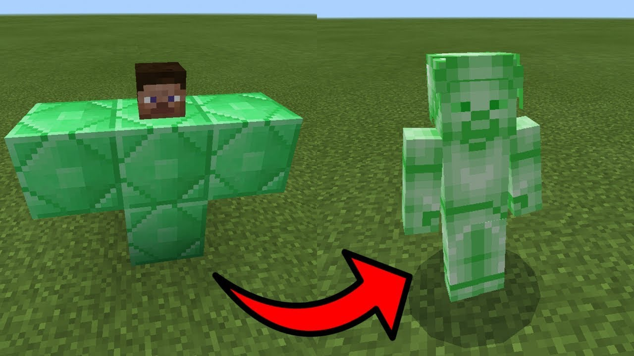 How To Spawn Green Steve in Minecraft Pocket Edition Xbox PC