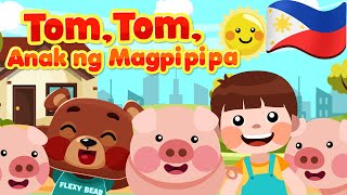 Tom, Tom the Pipers Son in Filipino | Philippines Kids Nursery Rhymes & Songs | Awiting Pambata