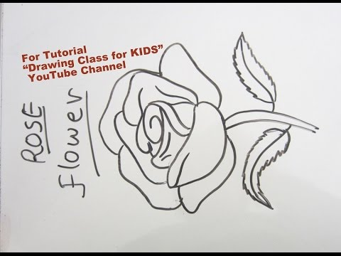 How To Draw Easy Rose Flower Rangoli Drawing Step By Step Tutorial