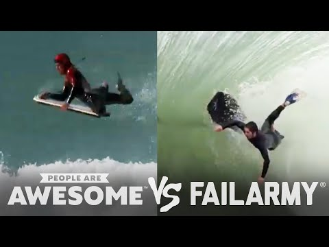 People Are Awesome vs. FailArmy: Body Surfing, Skiing, Weightlifting & More!