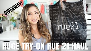 HUGE AFFORDABLE  TRY-ON RUE 21 HAUL + GIVEAWAY   FALL 2018