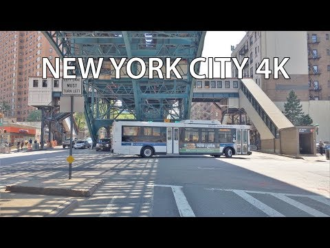 Driving Downtown - Harlem 4K - New York City USA