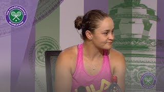 Ashleigh Barty Fourth Round Press Conference Wimbledon 2019