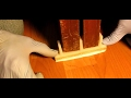 How to install closet door floor guides on a laminate floor