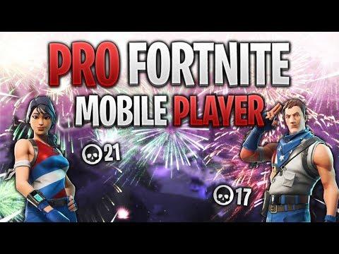 PRO FORTNITE MOBILE PLAYER // 375+ Wins // Fortnite Mobile ...