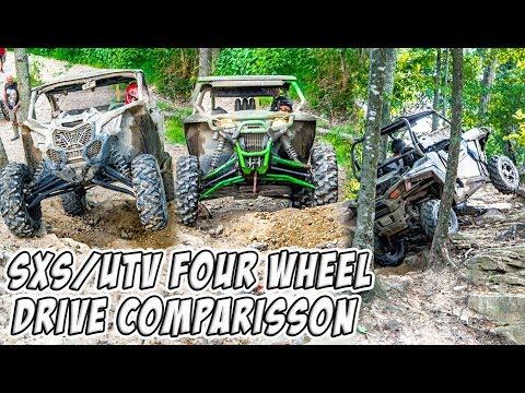 SXS/UTV - Four Wheel Drive System Comparison - Can-Am vs Polaris vs Arctic Cat 4WD/4X4/AWD/Visco-Lok