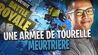 JE FAIS TOP 1 AVEC ARMEE DE TOURELLE SUR FORTNITE
